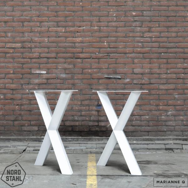 Nordstahl Diamond X leg wit stalen tafelpoten