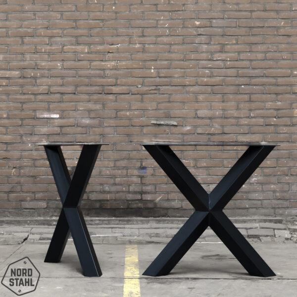 Nordstahl Diamond X leg zwart stalen tafelpoten