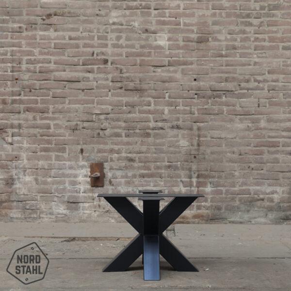 Nordstahl Double X coffee leg zwart stalen salontafelpoten
