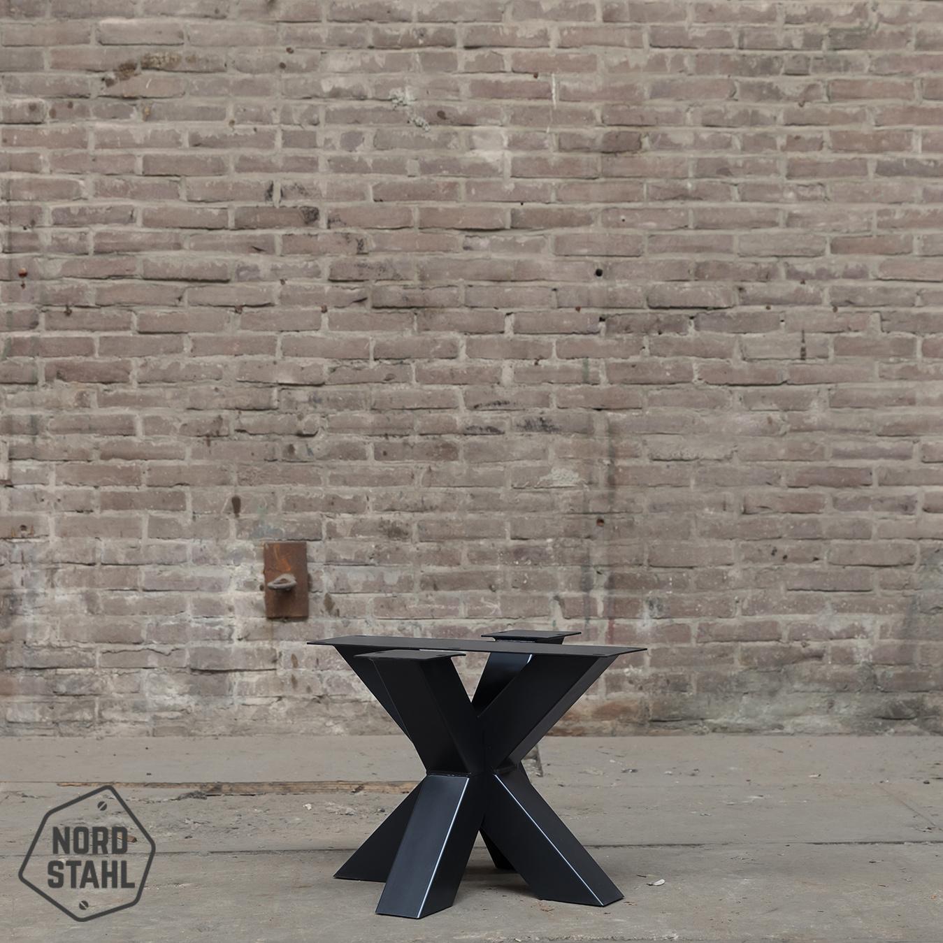 Nordstahl Double X coffee leg zwart stalen salontafelpoten 2
