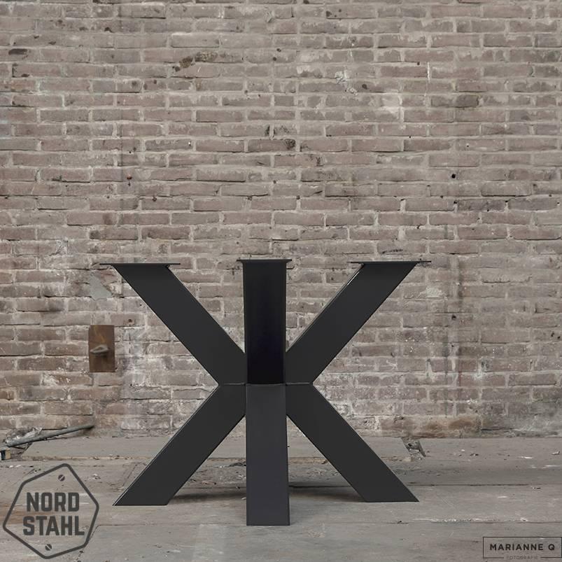 Nordstahl Double X leg heavy zwart stalen tafelpoten 2