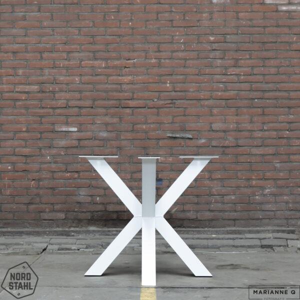 Nordstahl Double X leg wit stalen tafelpoten