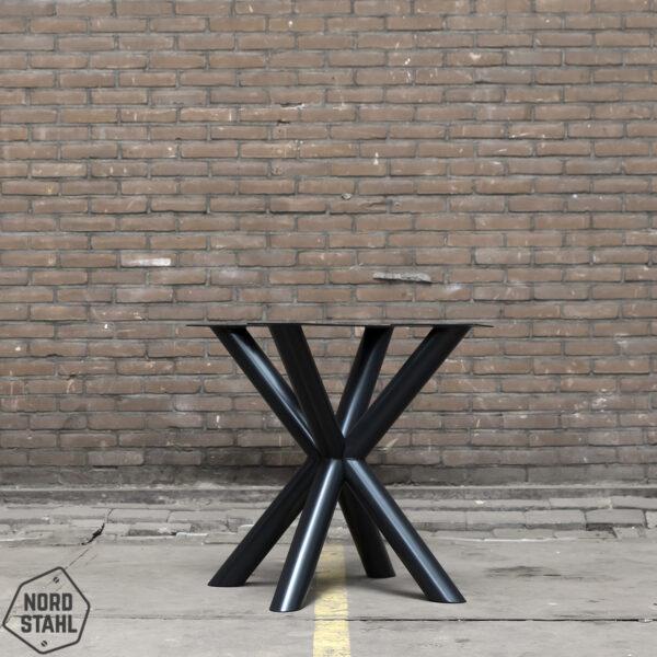 Nordstahl Double X round leg zwart stalen tafelpoten