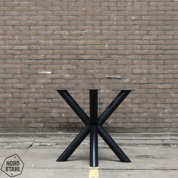 Nordstahl Double X round leg zwart stalen tafelpoten 2