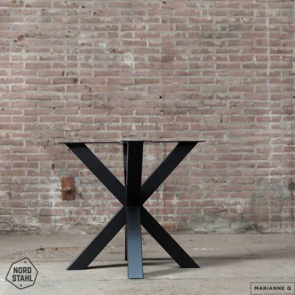 Nordstahl Double X leg zwart stalen tafelpoten 2
