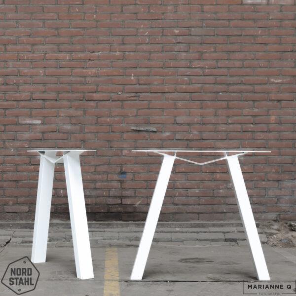 Nordstahl M leg wit stalen tafelpoten