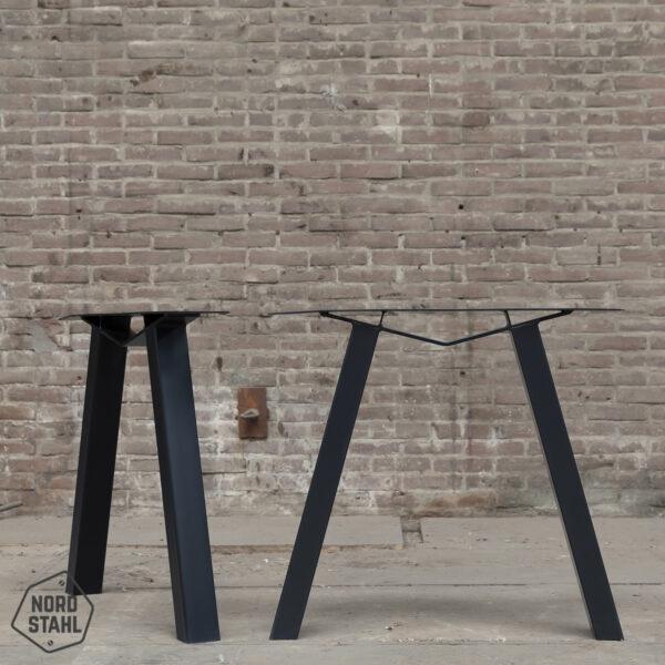 Nordstahl M leg zwart stalen tafelpoten