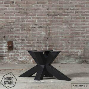 Nordstahl matrix coffee leg zwart stalen salontafelpoten 2