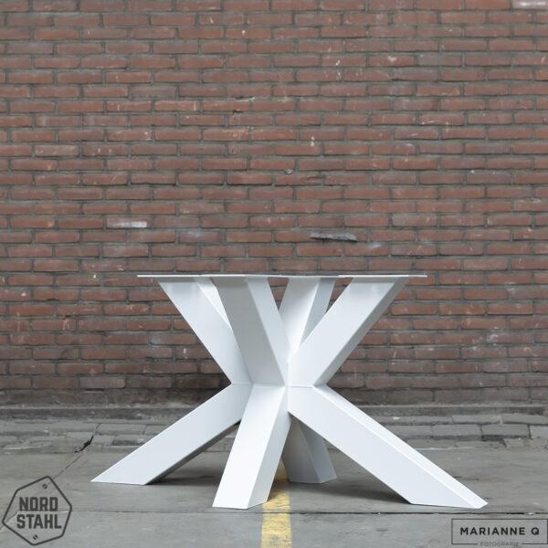 Nordstahl Matrix leg heavy wit 2 stalen tafelpoten
