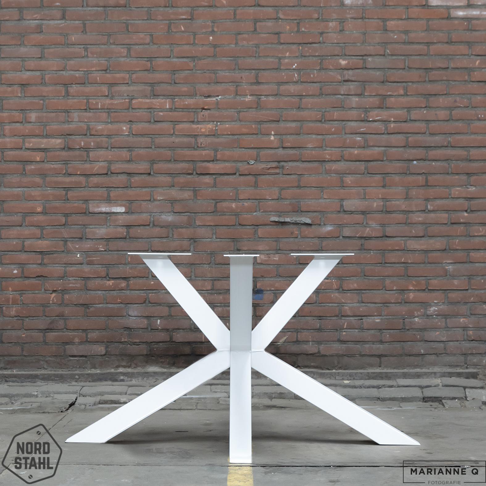 Nordstahl Matrix leg wit stalen tafelpoten