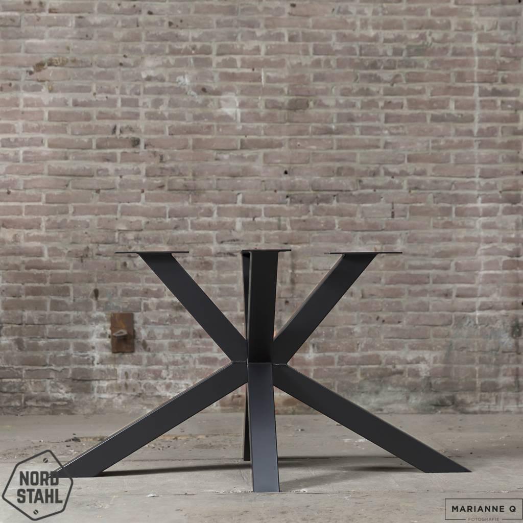 Nordstahl Matrix leg zwart 2 stalen tafelpoten