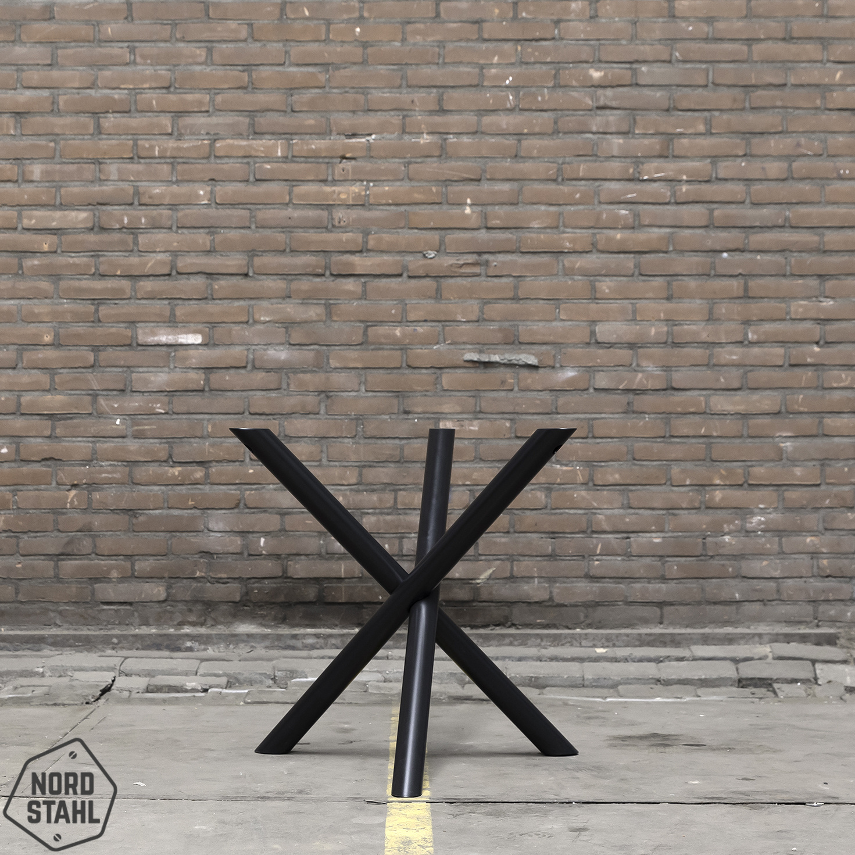 Nordstahl Mikado leg zwart stalen tafelpoten 2