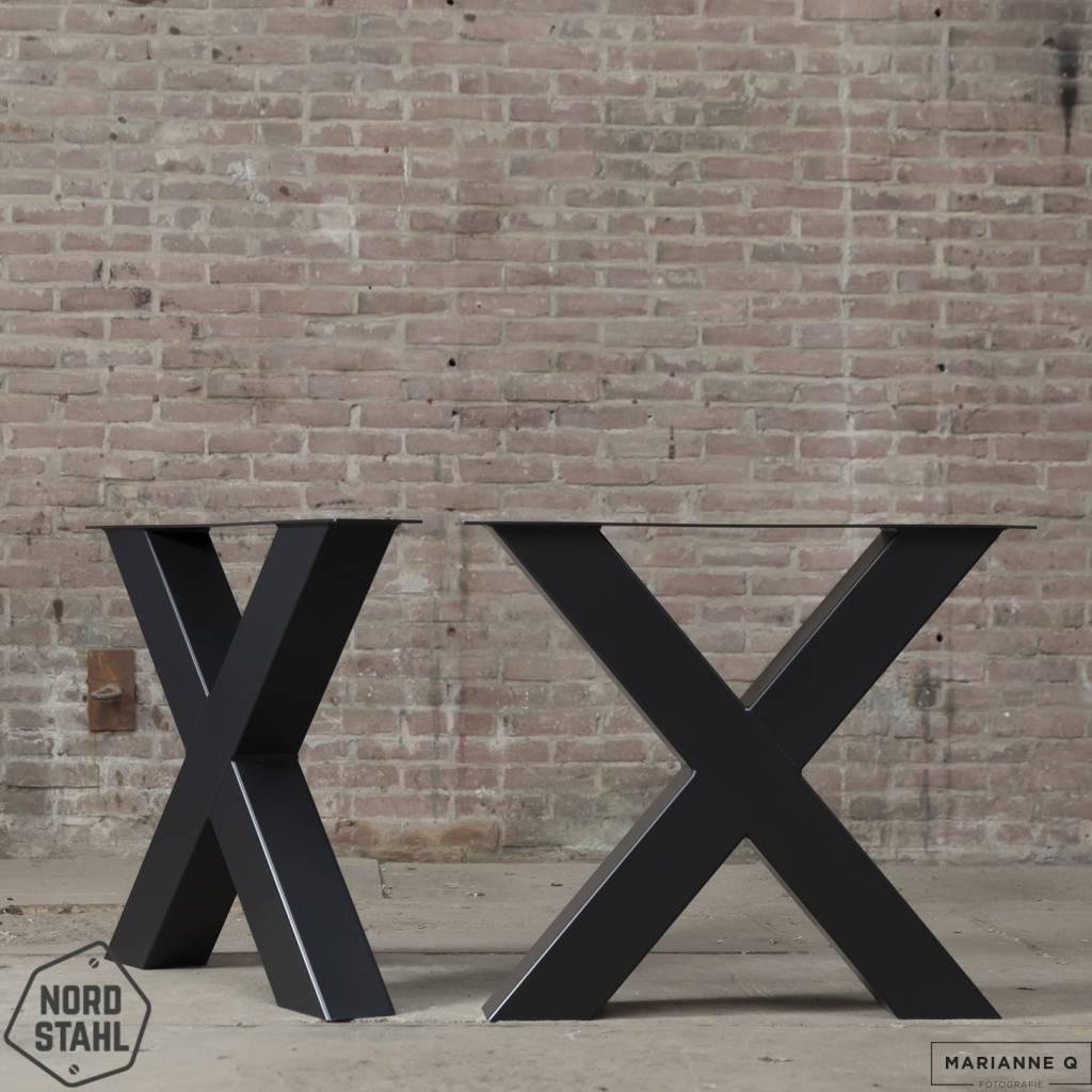 Nordstahl X leg heavy zwart 2 stalen tafelpoten