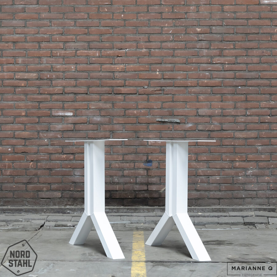 Nordstahl Split leg wit stalen tafelpoten 2