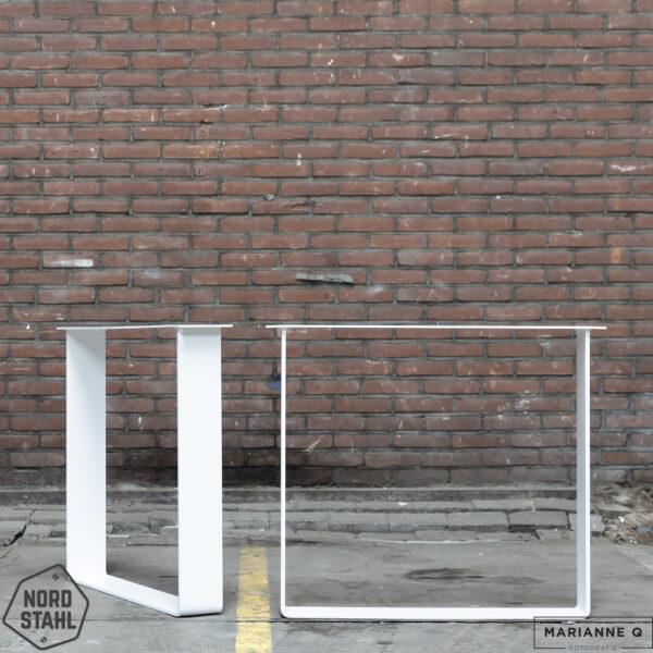 Nordstahl Strip leg wit stalen tafelpoten