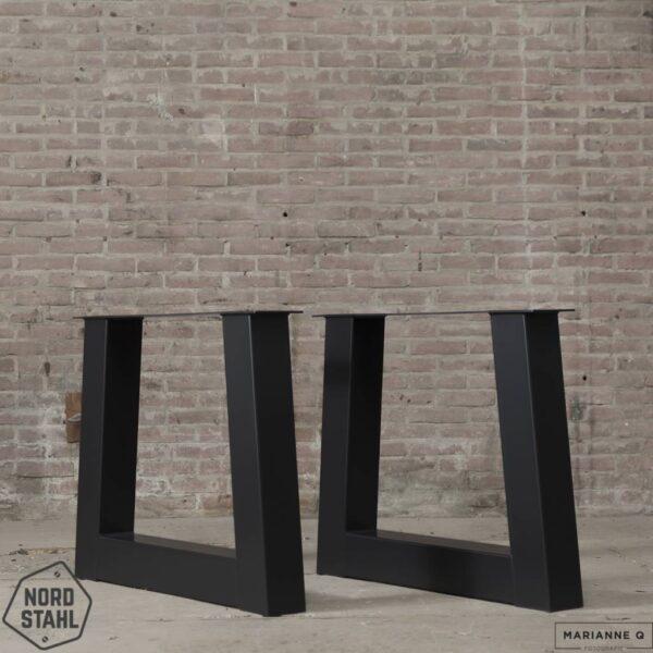 Nordstahl Trapezium leg heavy zwart stalen tafelpoten