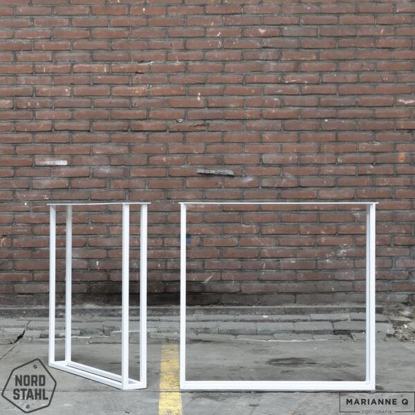 Nordstahl Twin U leg wit stalen tafelpoten