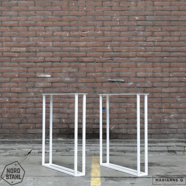 Nordstahl Twin U leg wit stalen tafelpoten 2
