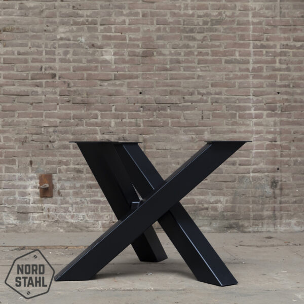 Nordstahl Twist Circle leg heavy zwart stalen tafelpoten