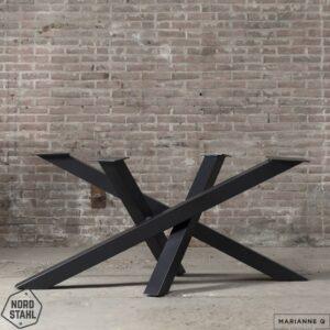 Nordstahl Twist leg zwart stalen tafelpoten