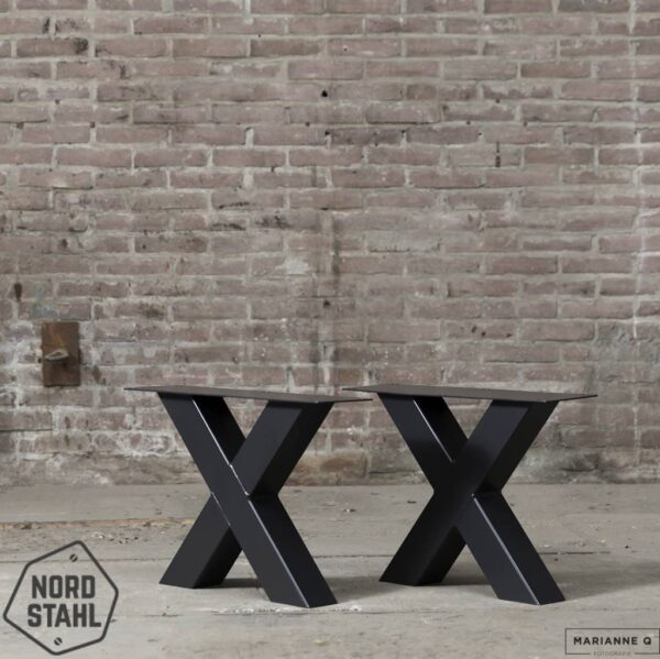 Nordstahl X coffee leg zwart stalen salontafelpoten