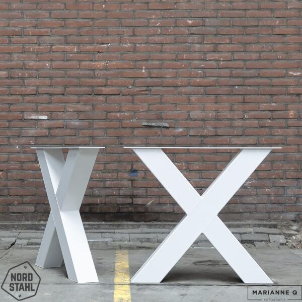 Nordstahl X leg heavy wit stalen tafelpoten