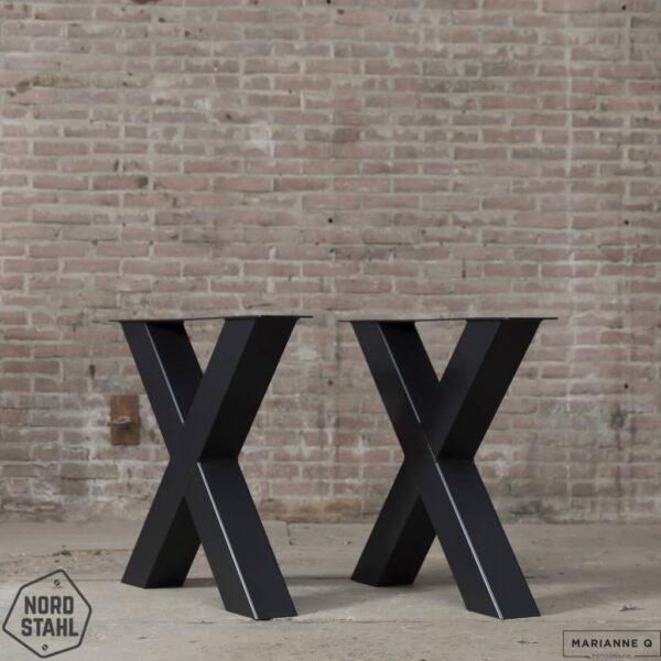 Nordstahl X leg heavy zwart stalen tafelpoten