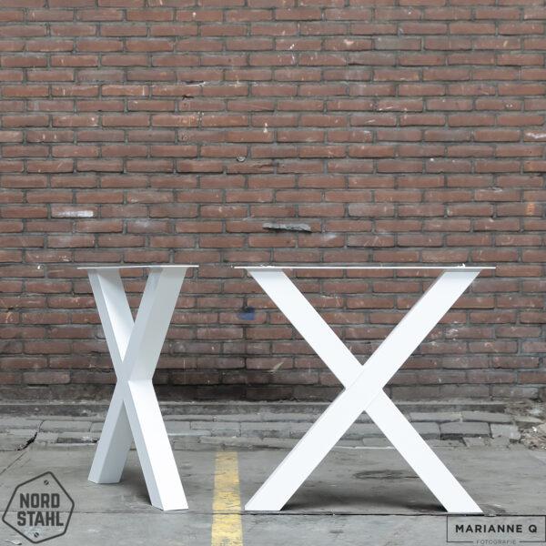 Nordstahl X leg wit stalen tafelpoten