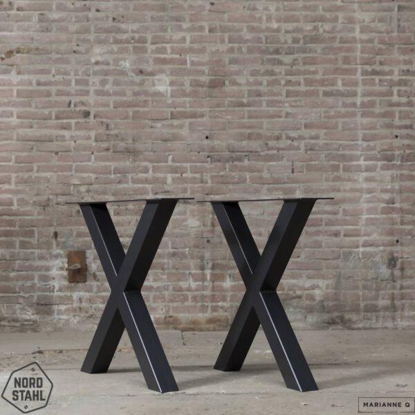 Nordstahl X leg zwart stalen tafelpoten